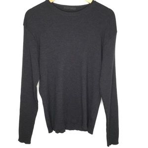 Private Lives Wool Sweater Charcoal Grey Size XXL